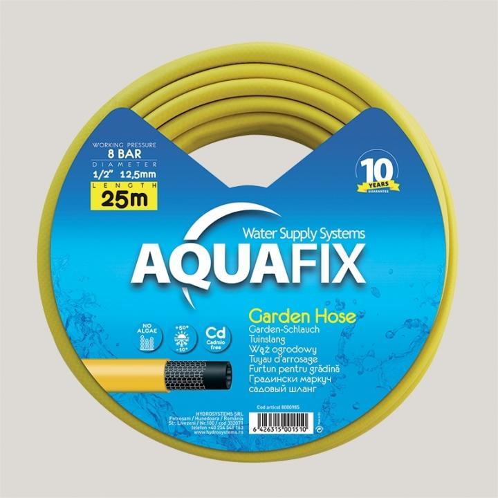 Furtun pentru gradina AquaFix 12.5mm (1/2'') x 25m