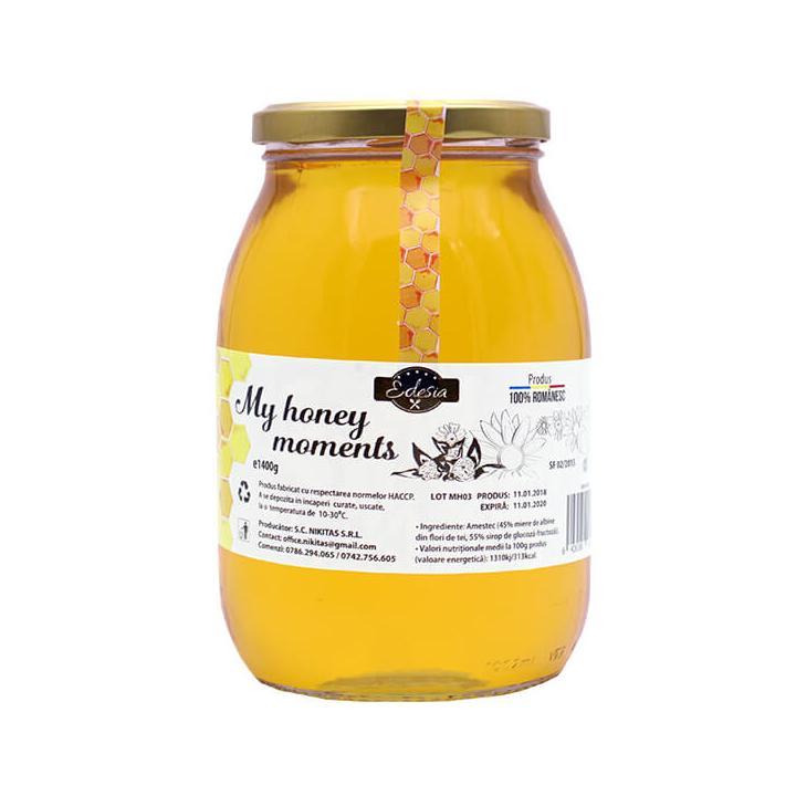 Indulcitor cu miere My honey moments 10 borcane x 1400g