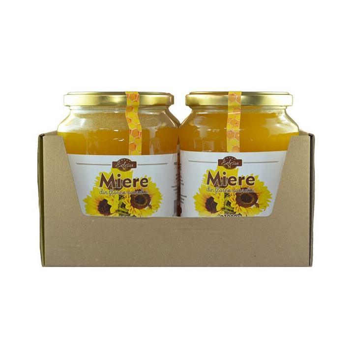 Miere de floarea soarelui Edesia borcan 1000g., 4 borcane