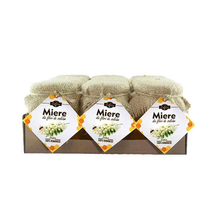 Miere de salcam Edesia - borcan 240g, 12 borcane/bax