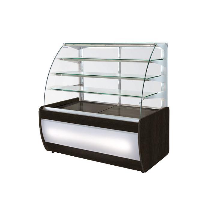 Vitrina frigorifica cofetarie 1020 mm cu sticla curbata