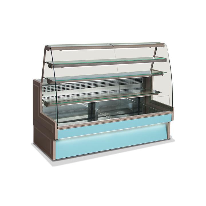 Vitrina frigorifica cofetarie 1030 mm sticla curbata