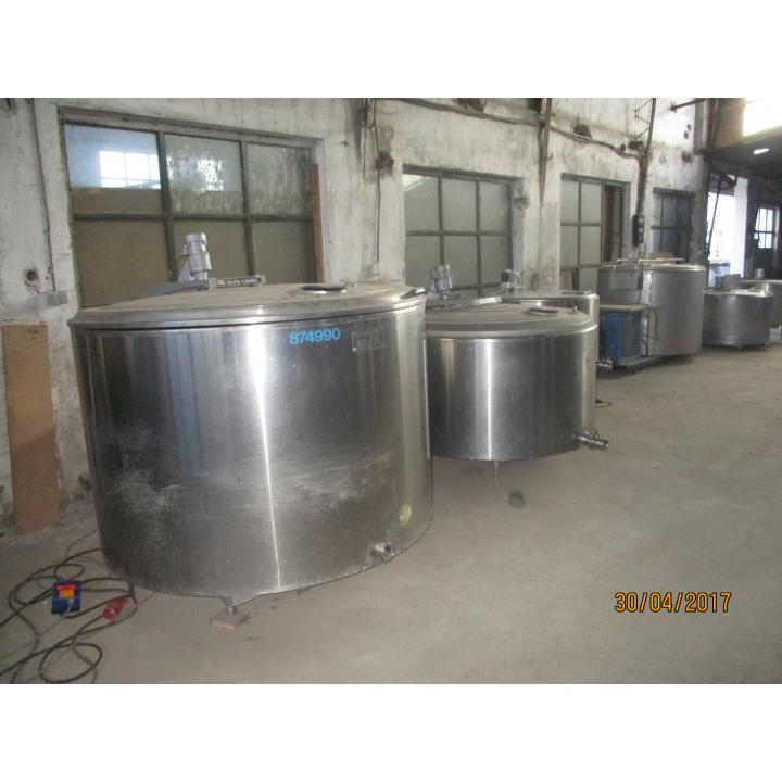 Rezervor inox lapte Alfa Laval 1400 litri
