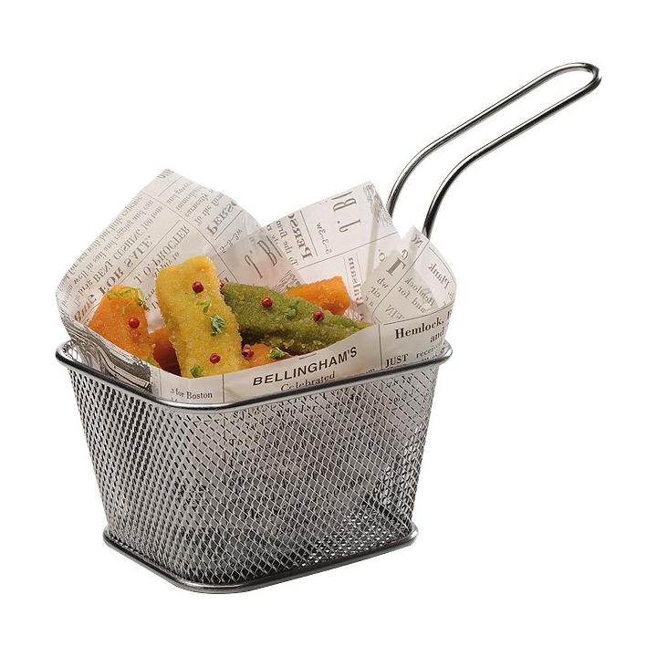 Cos mini-fry din inox, 13.5x10.5 cm