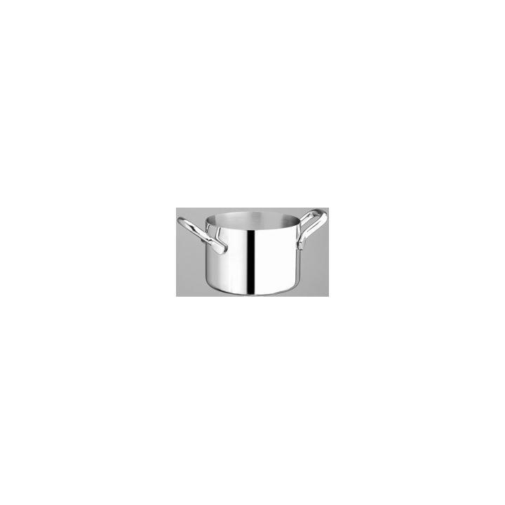 Cratita mini aluminiu-inox, 500 ml