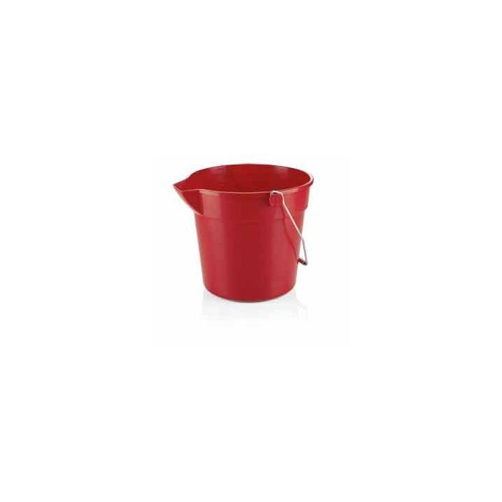 Galeata PP rosie, 10 litri