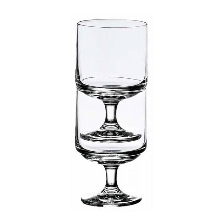 Pahar universal cu picior, din sticla Sidney, 170 ml