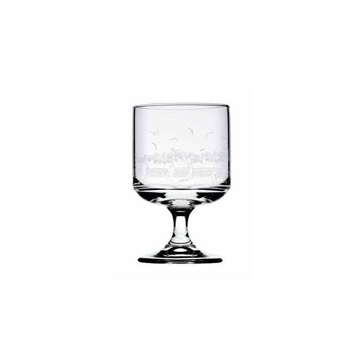 Pahar universal cu picior, din sticla Sidney, 220 ml