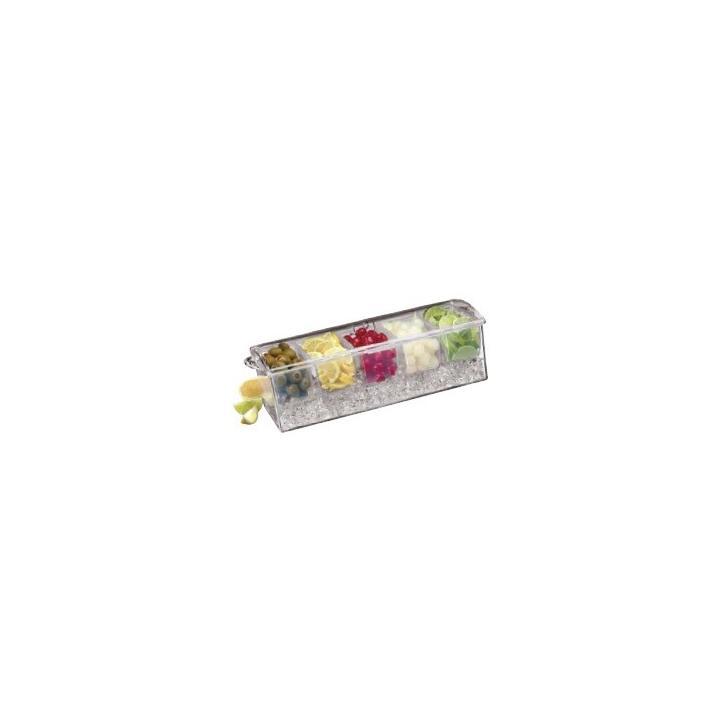 Suport condimente din acril, 37x14x12 cm