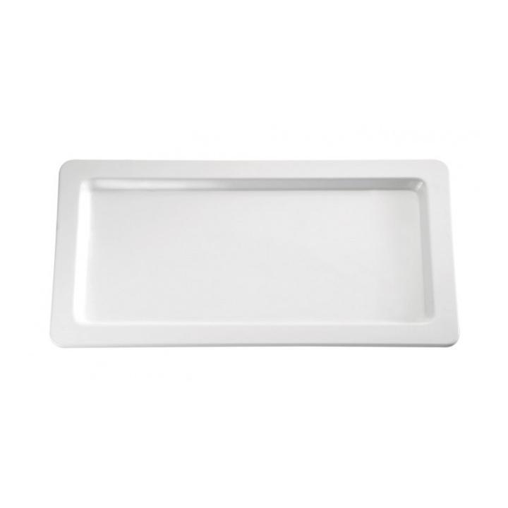 Tava/platou melamina culoare alba, 32.5x17.6 cm