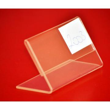Suport eticheta de pret din plexi transparent cu talpa