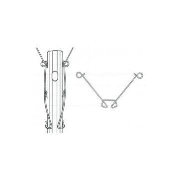 Arc distantiator pentru stalp din metal pt. vie