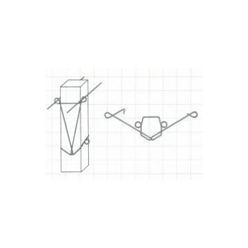 Arc distantiator pentru stalp din beton pt. vie