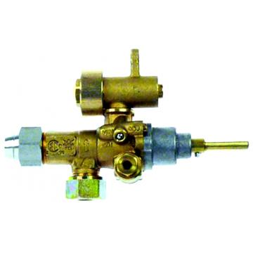 Robinet gaz PEL21S, echipat complet fixare pe teava - MKN