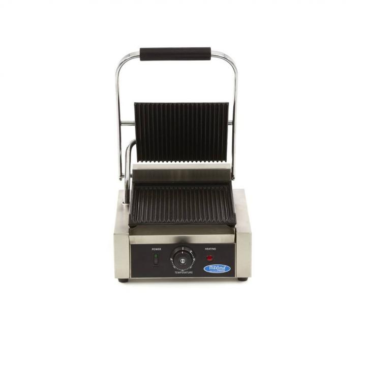 Contact grill profesional Maxima MCG GR, putere 1800w