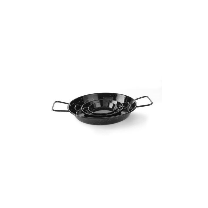 Tigaie emailata pentru paella Hendi, 2 manere, 240 mm