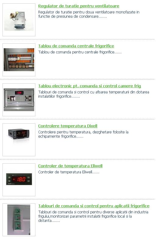 Automatizari frigorifice