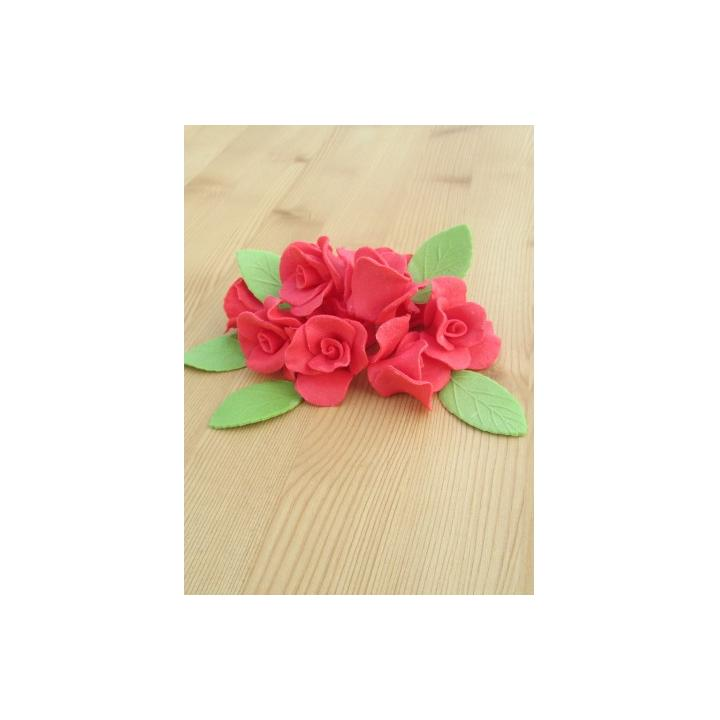Set decor prajituri trandafiri mici