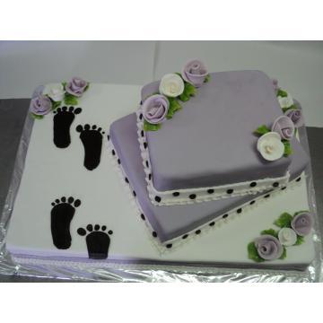 Tort 2 in 1 nunta si botez