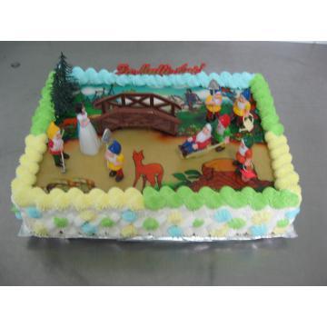 Tort Alba ca Zapada cu poza comestibila