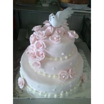 Tort nunta trandafiri martipan