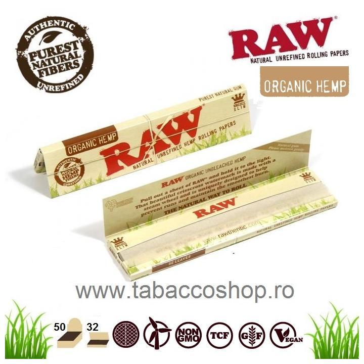 Foite tigari Raw Organic King Size Slim 32