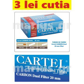 Tuburi de tigari cu filtru Cartel Carbon 100