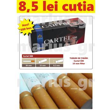 Tuburi de tigari pentru injectare tutun Cartel