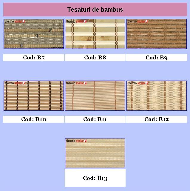 Rolete bambus