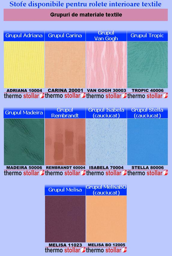 Rolete textile optimus