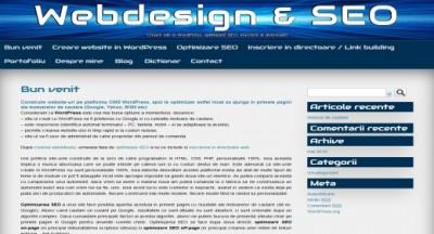 Creare site si optimizare SEO pentru motoarele de cautare