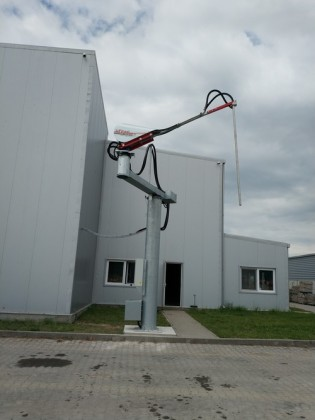 Sonda automata pentru prelevare probe cereale din remorci si camioane
