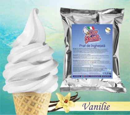 Praf de înghețată Vanilie * (1300g / 5 L Lapte) * Mix de înghețată