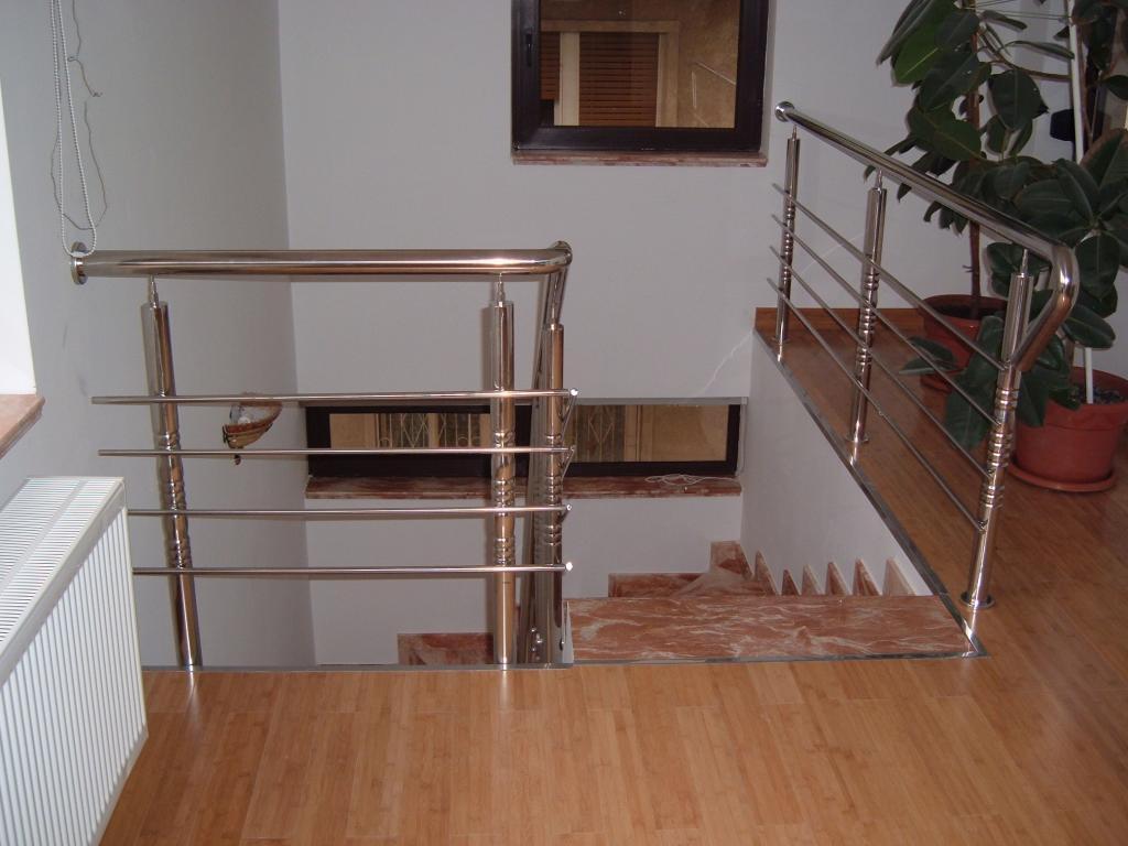 Balustrade din inox pentru interior