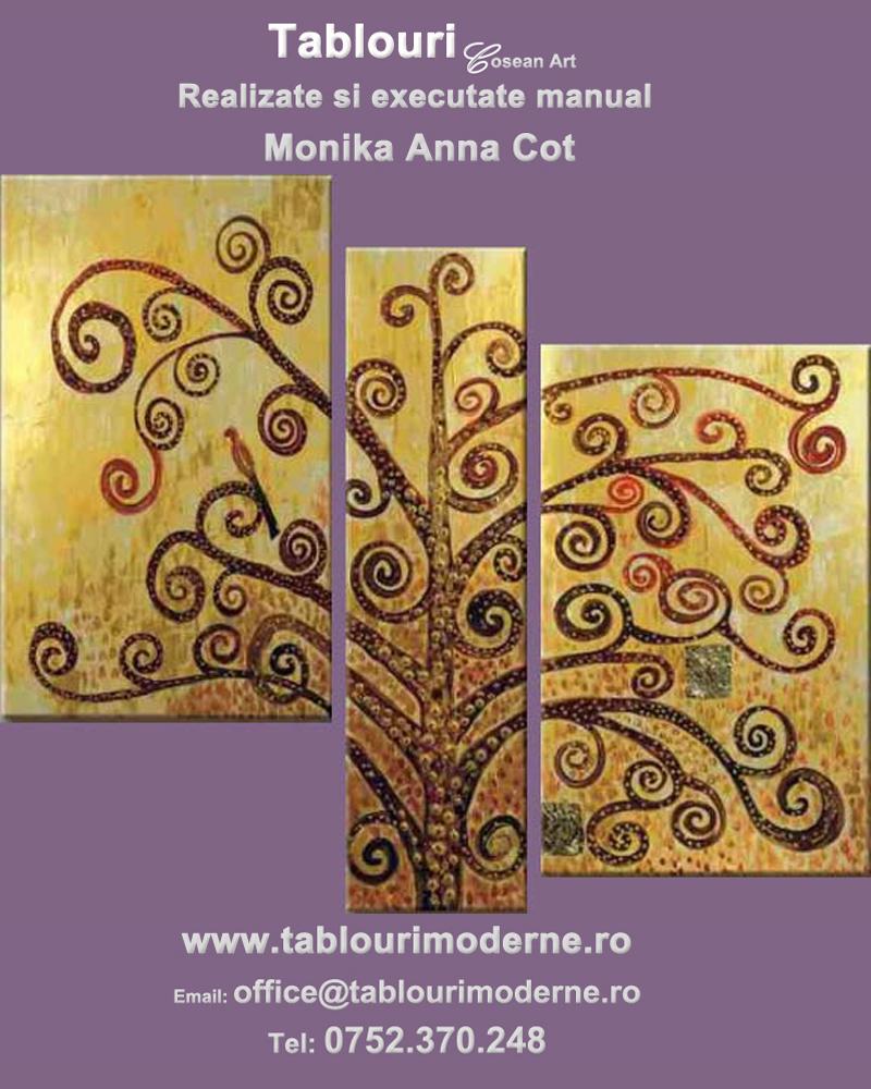 Tablouri abstracte pictate manual