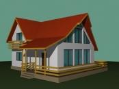 Constructii case din lemn cu mansarda