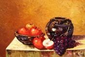 Pictura fructe in ulei pe panza