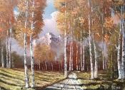 Pictura peisaje in ulei pe panza