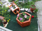 Elemente decorative lemn pentru gradina