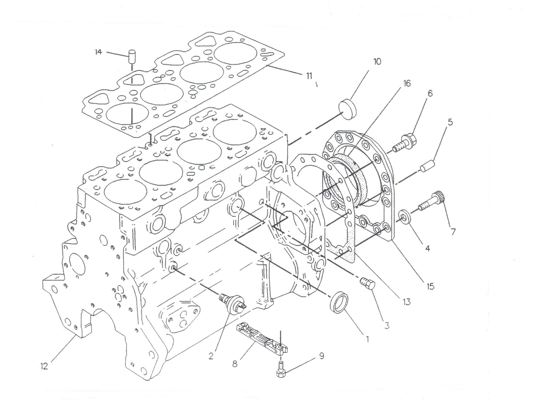 Pompa injectie motor utilaje Case