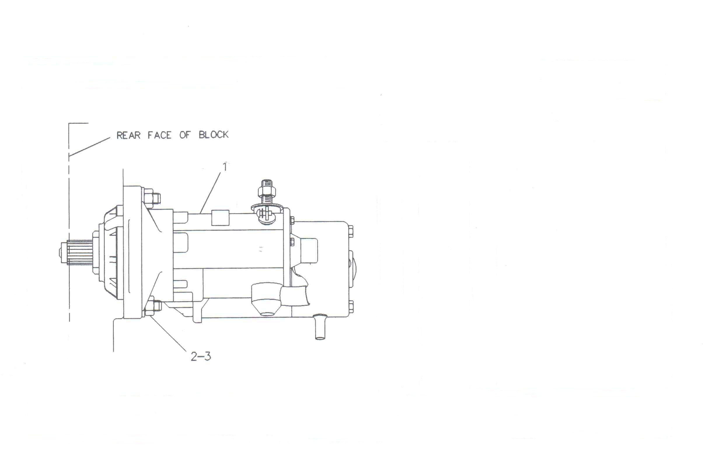 Pompa injectie motor utilaje JCB