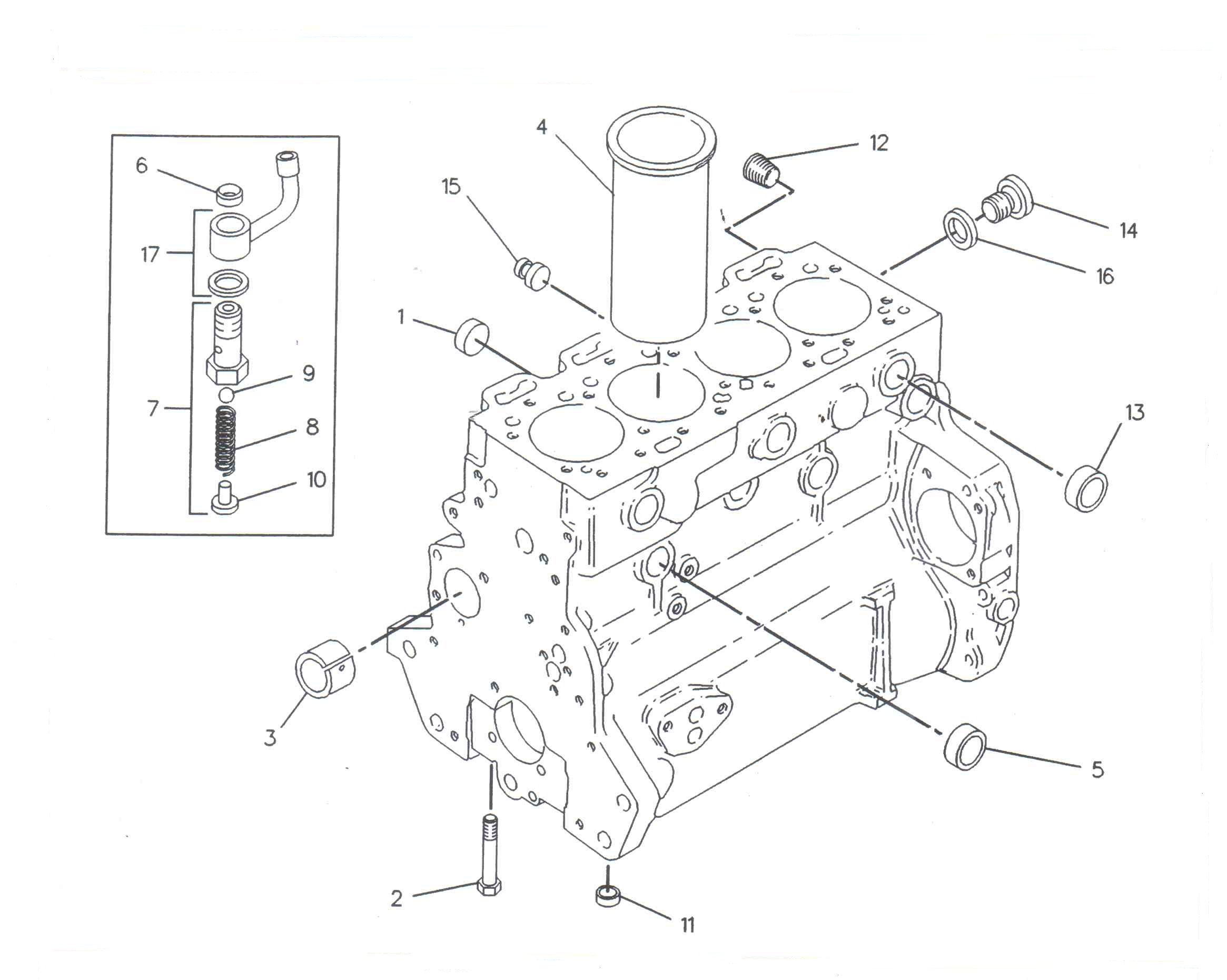 Set segmenti motor utilaje Case