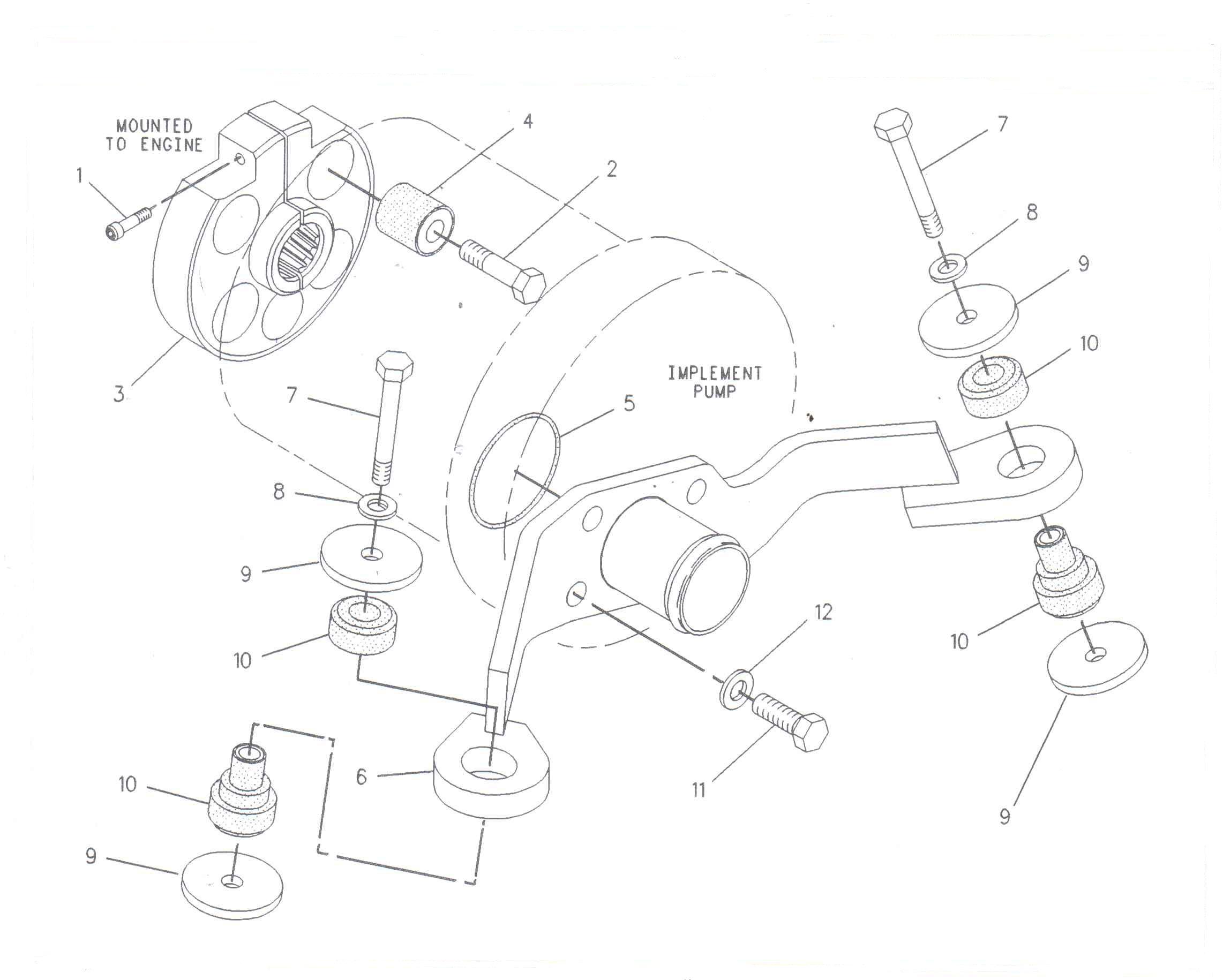 Suport element imbinare utilaje Volvo