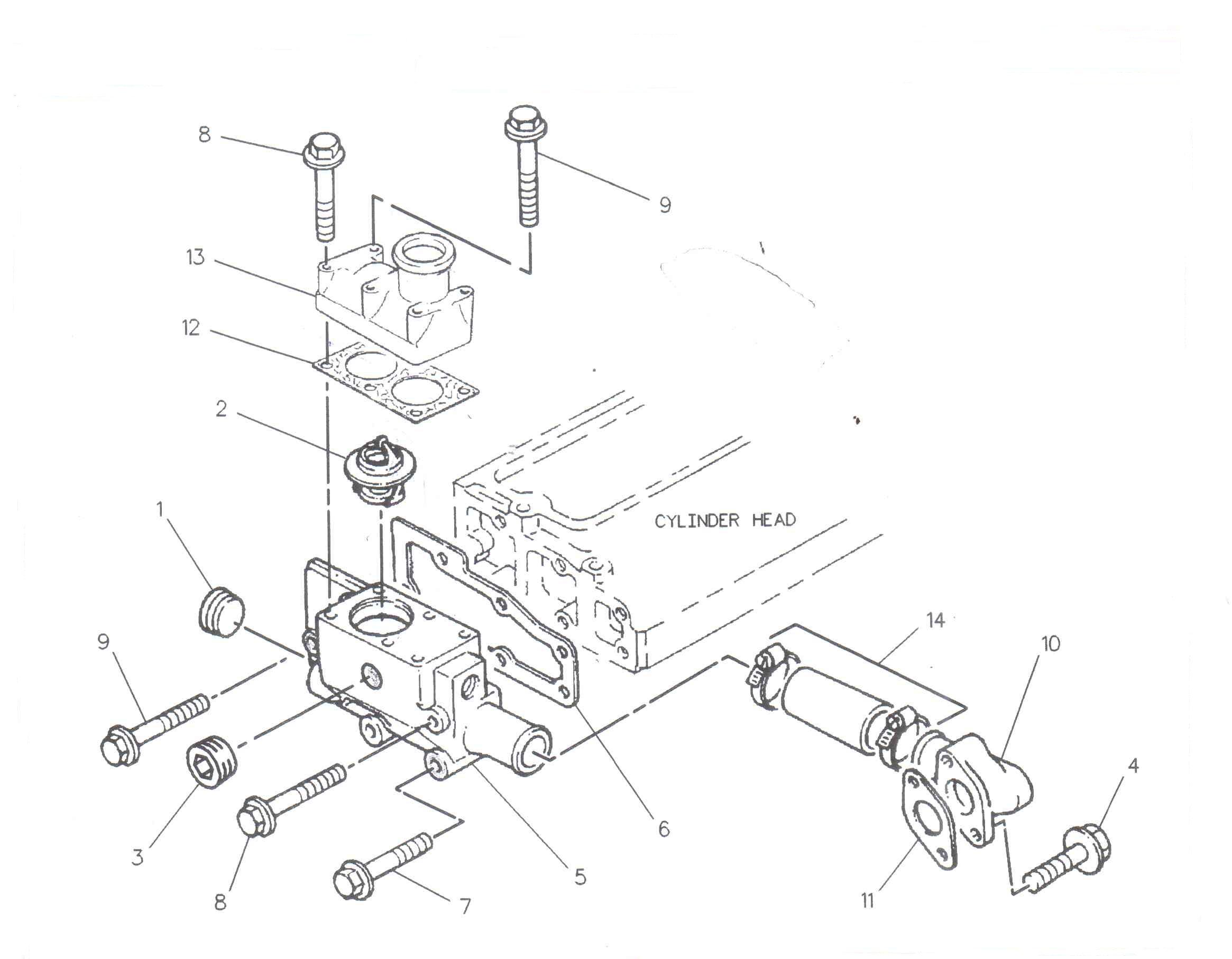Termostat motor utilaje Case