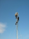 Montaj antene microunde