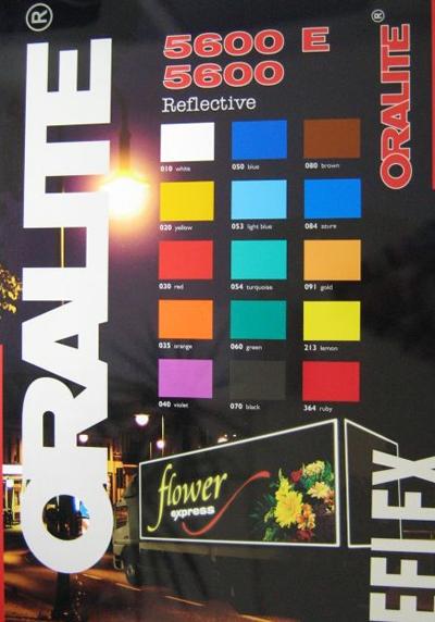 Folie reflectorizanta publicitate
